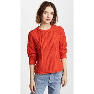 Madewell Solid Rib Cable Knit Pullover Sweater XXS